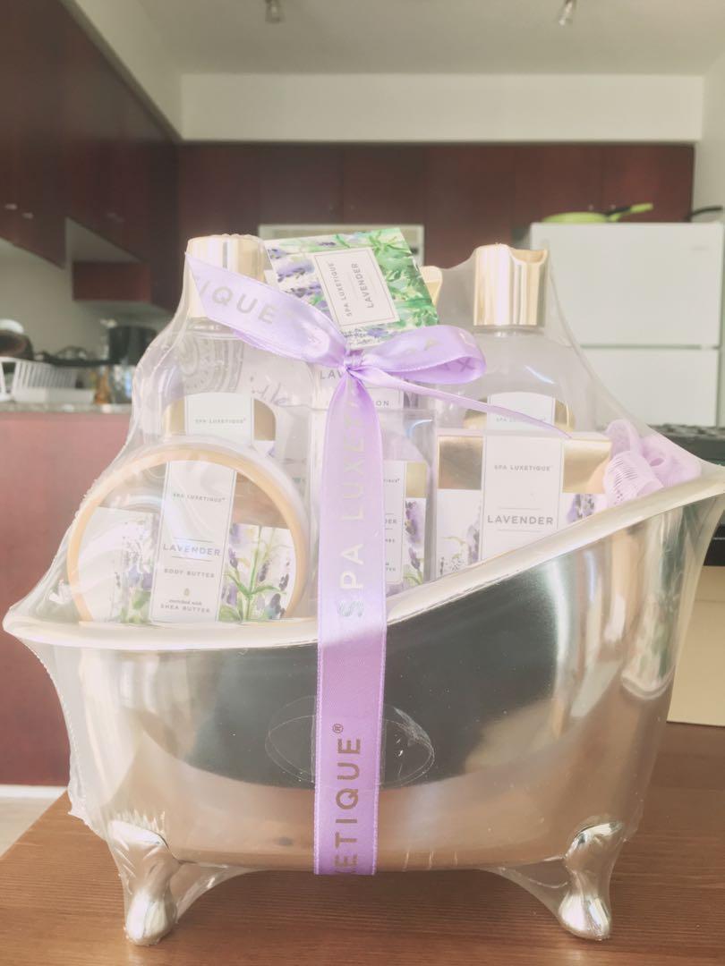 Bath shower gel set Lavender