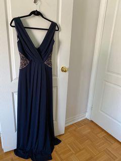 BCBG Dress Evening Gown Blue