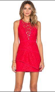 BCBG Red Dress Mini Lace