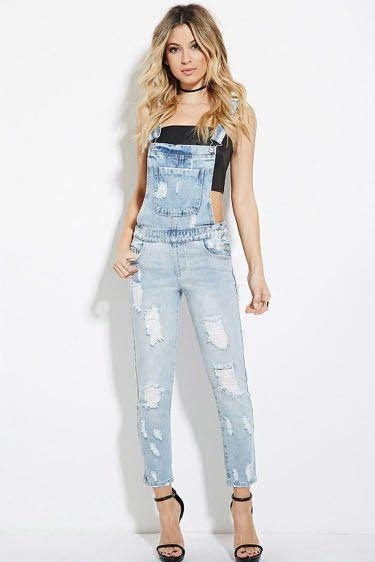 Forever 21 Jean Overalls