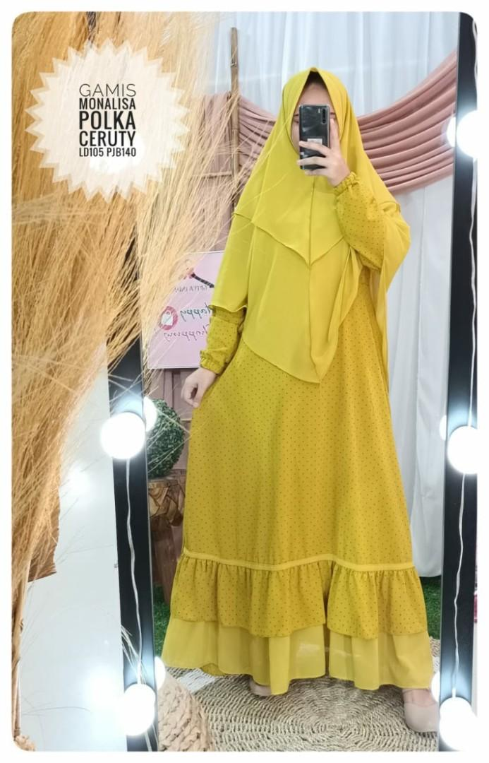 Gamis Syari Set Hijab Cantik Murah Fesyen Wanita Muslim Fashion Lainnya Di Carousell