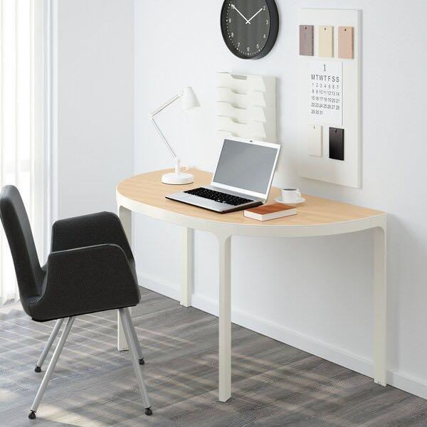 Ikea Bekant Half Circle Desk Table In, Half Circle Table Ikea