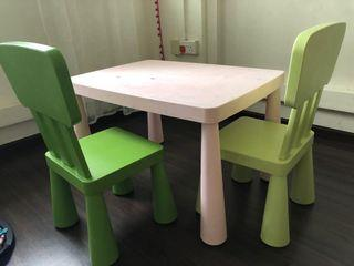 Relocation! Please collect today! IKEA kids table and chairs