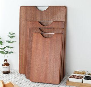 One-Solid Piece Wooden Chopping Board, 3 Sizes