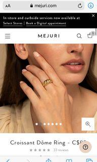 Mejuri Gold Croissant Dome Ring
