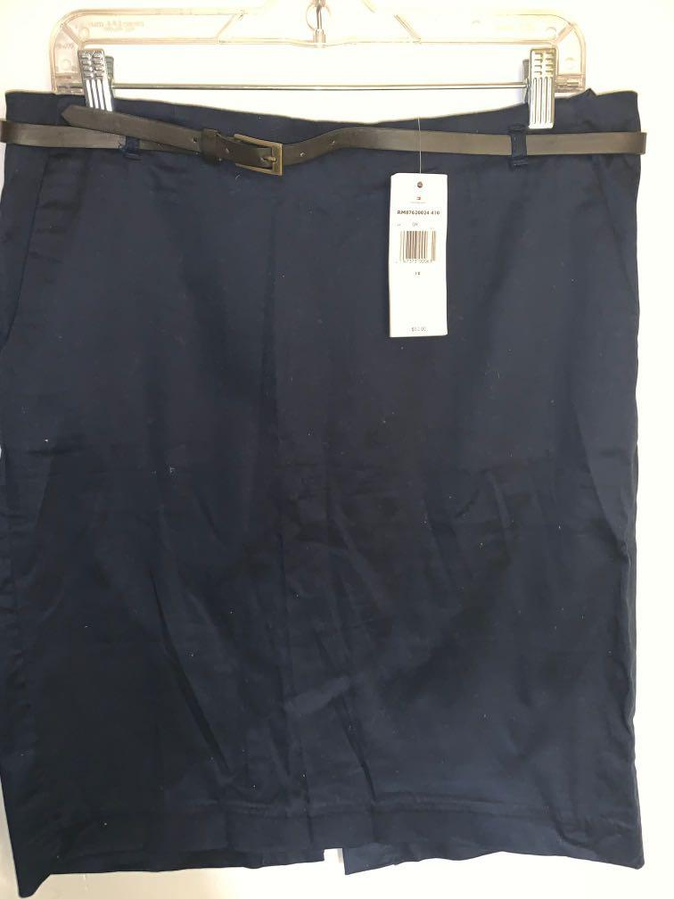 Navy Skirt -tagged