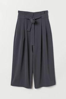 New with tags H&M Wide Leg Trousers Dark Grey Size 2