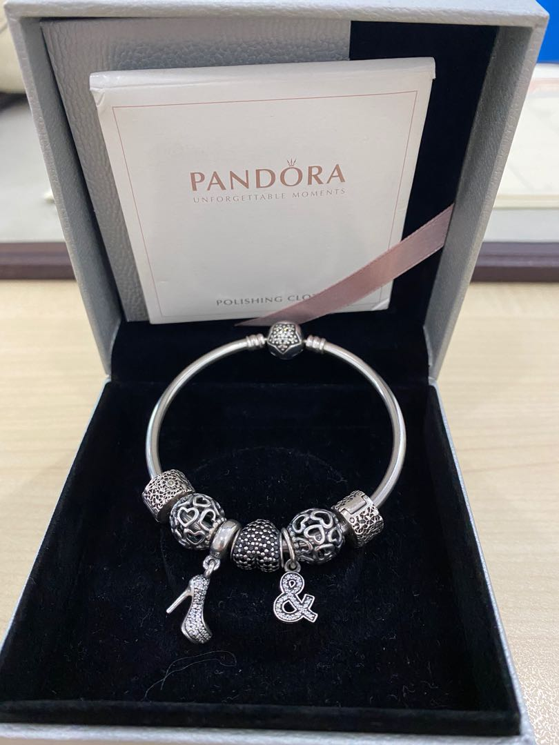 Pandora Bracelet Set 2 5jt Fesyen Wanita Aksesoris Di Carousell