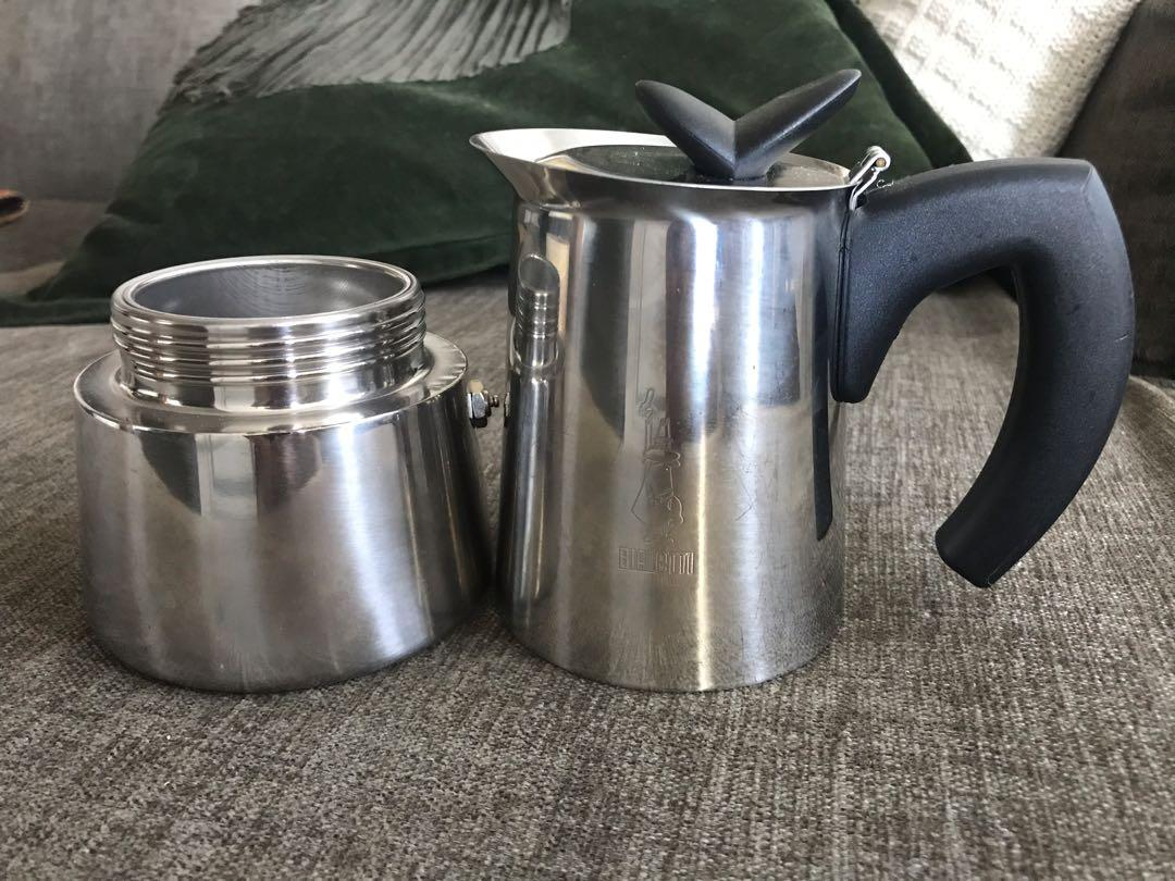 Stainless steel Bialetti espresso maker