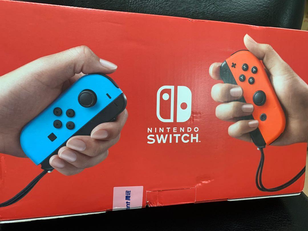 (現貨)全新Switch紅藍電力加強版主機-陸版