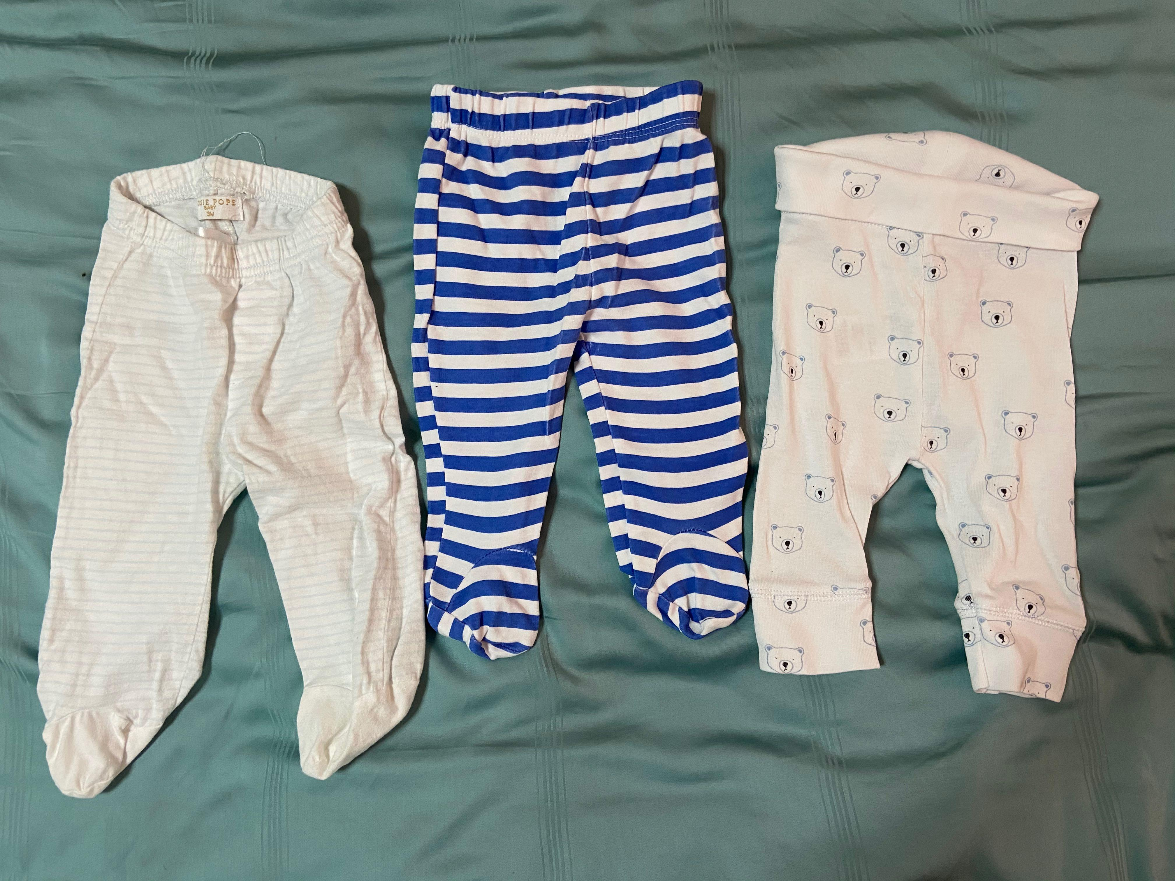 6 pairs Baby Clothes pants with feet cover, Babies & Kids, Babies