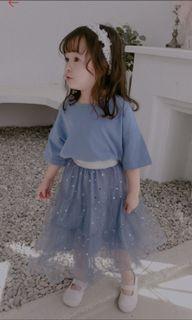 藍色紗裙套裝