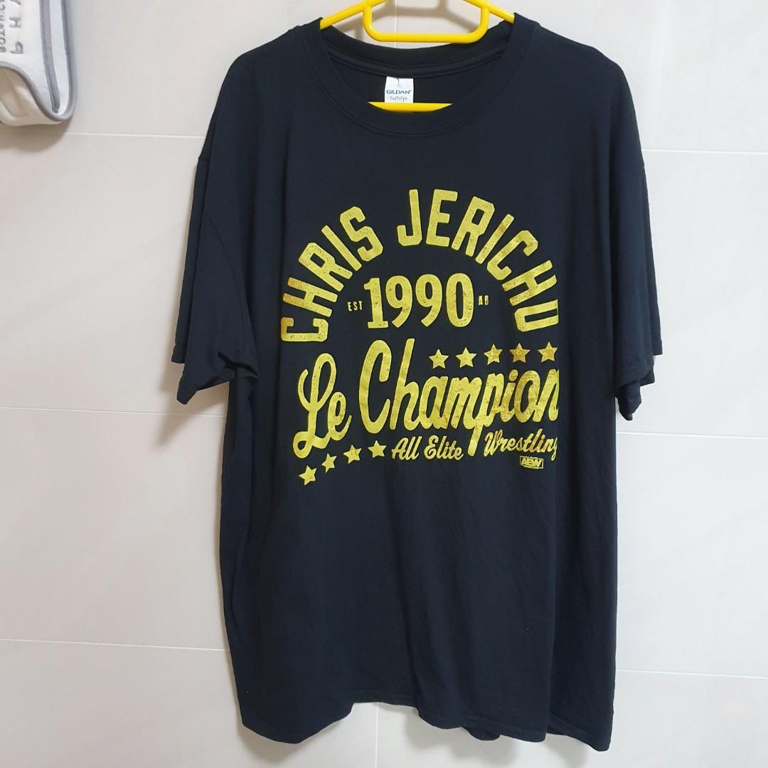 "Chris Jericho /""Le Champion/"" T-Shirt Official AEW All Elite Wrestling"
