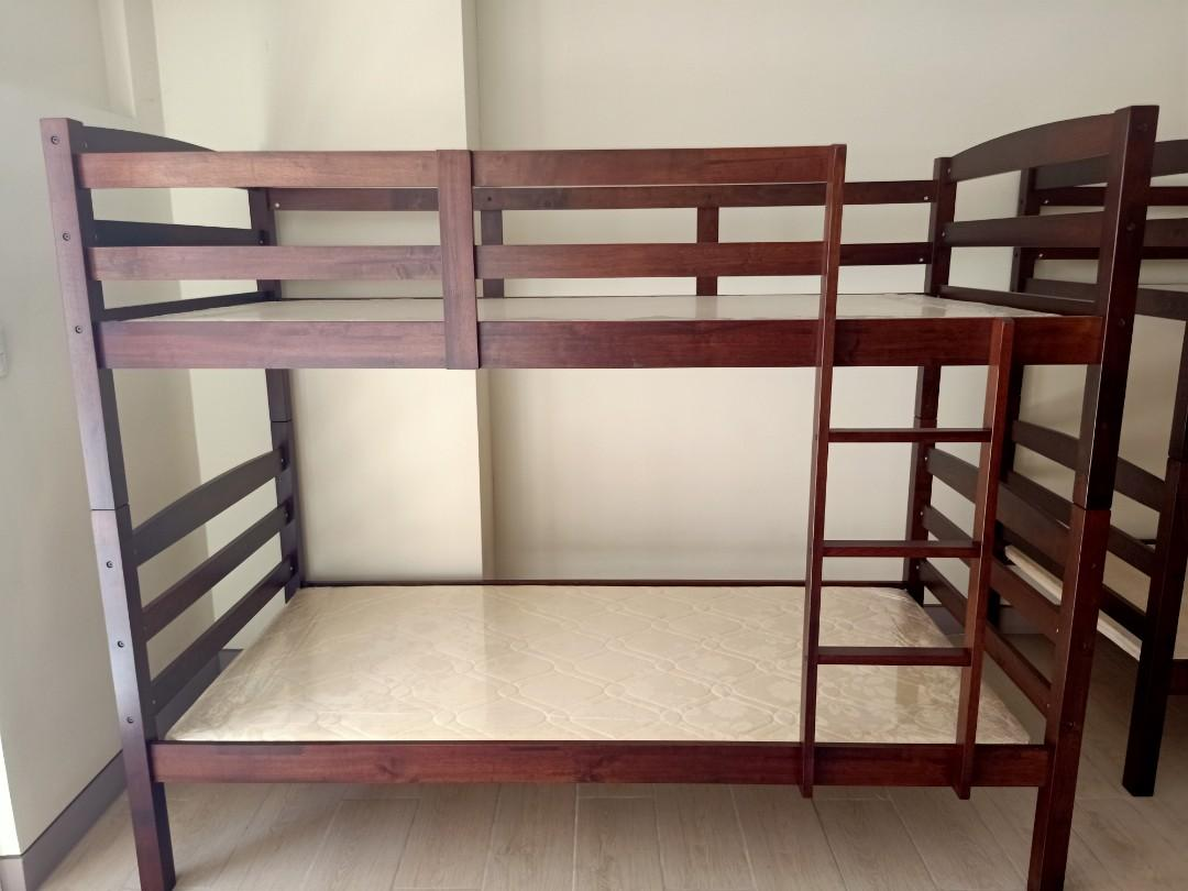 Picture of: Brand New Bunk Bed With Foam Mattress Home Furniture Furniture Fixtures Beds Mattresses On Carousell
