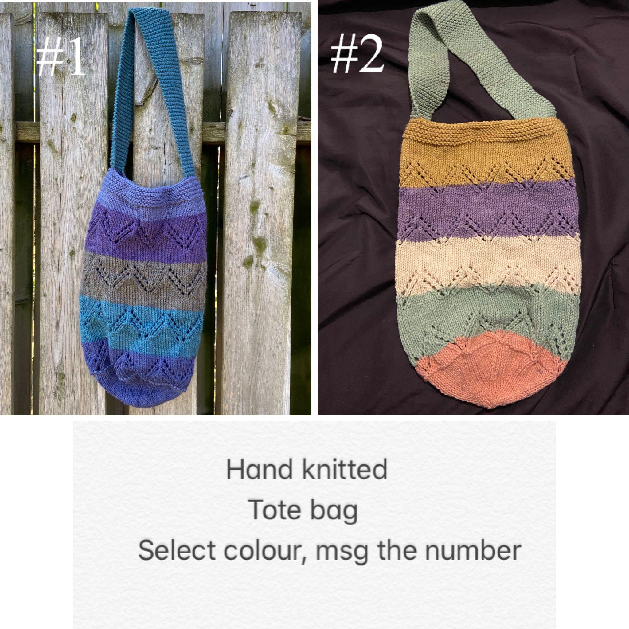 Handmade Knitted tote bag