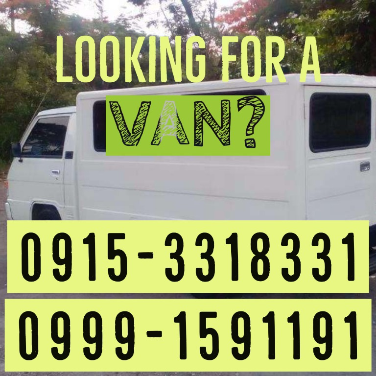 L300 For Rent FB for Rent Innova Hiace for Hire MMLA Provincial Trips