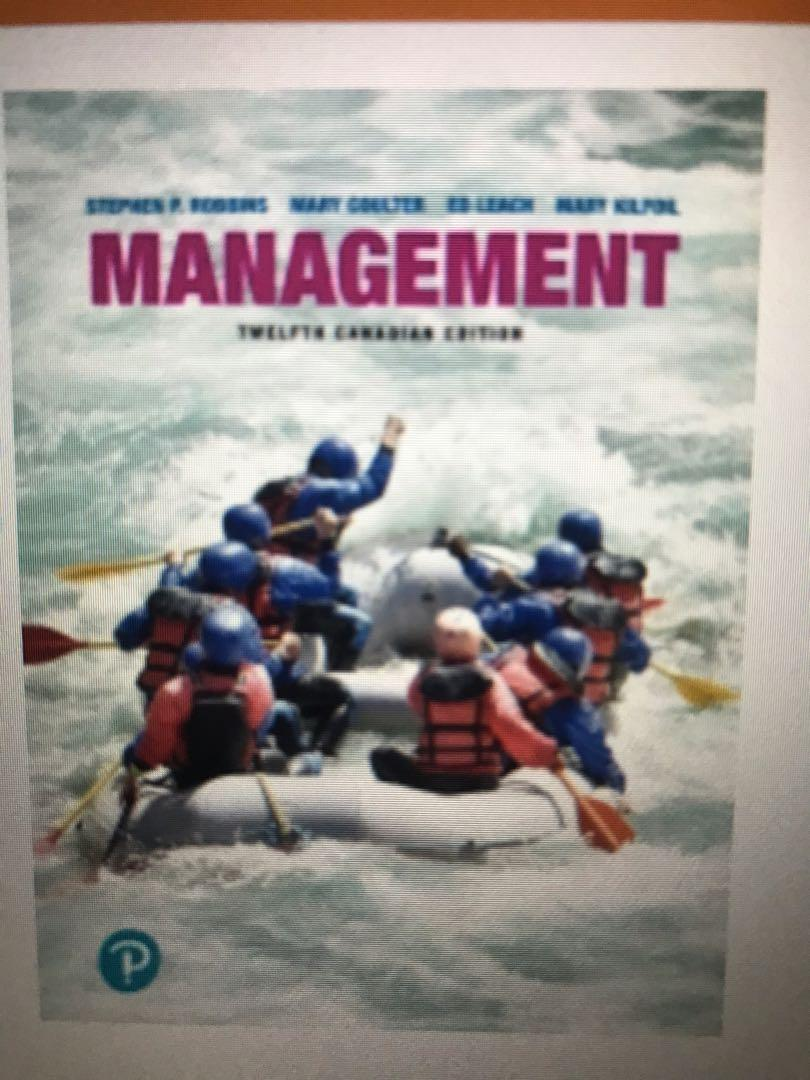 Management, 12th canadian edition