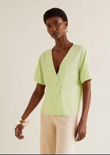 Mango flowy top blouse