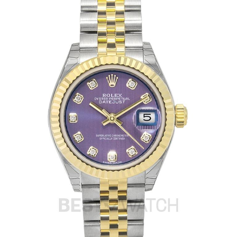 [NEW] Rolex Lady Datejust Automatic Lavender Diamond Dial Steel and 18K Yellow Gold Ladies Watch 279173-0017G