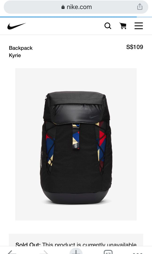 Saqueo Adepto canal  Nike Kyrie backpack, Men's Fashion, Bags & Wallets, Backpacks on Carousell