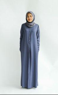 [NWT] Olloum Basic Fatihah Jubah Dress in Blueberry