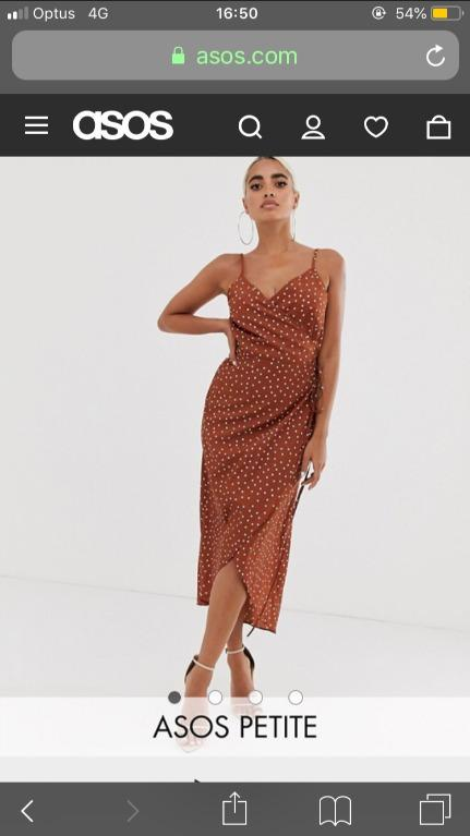 Petite midi dress with front slit