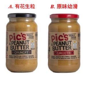 紐西蘭品牌Pic's香濃健康花生醬380g