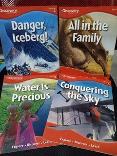 Set of 4 Discovery Education books
