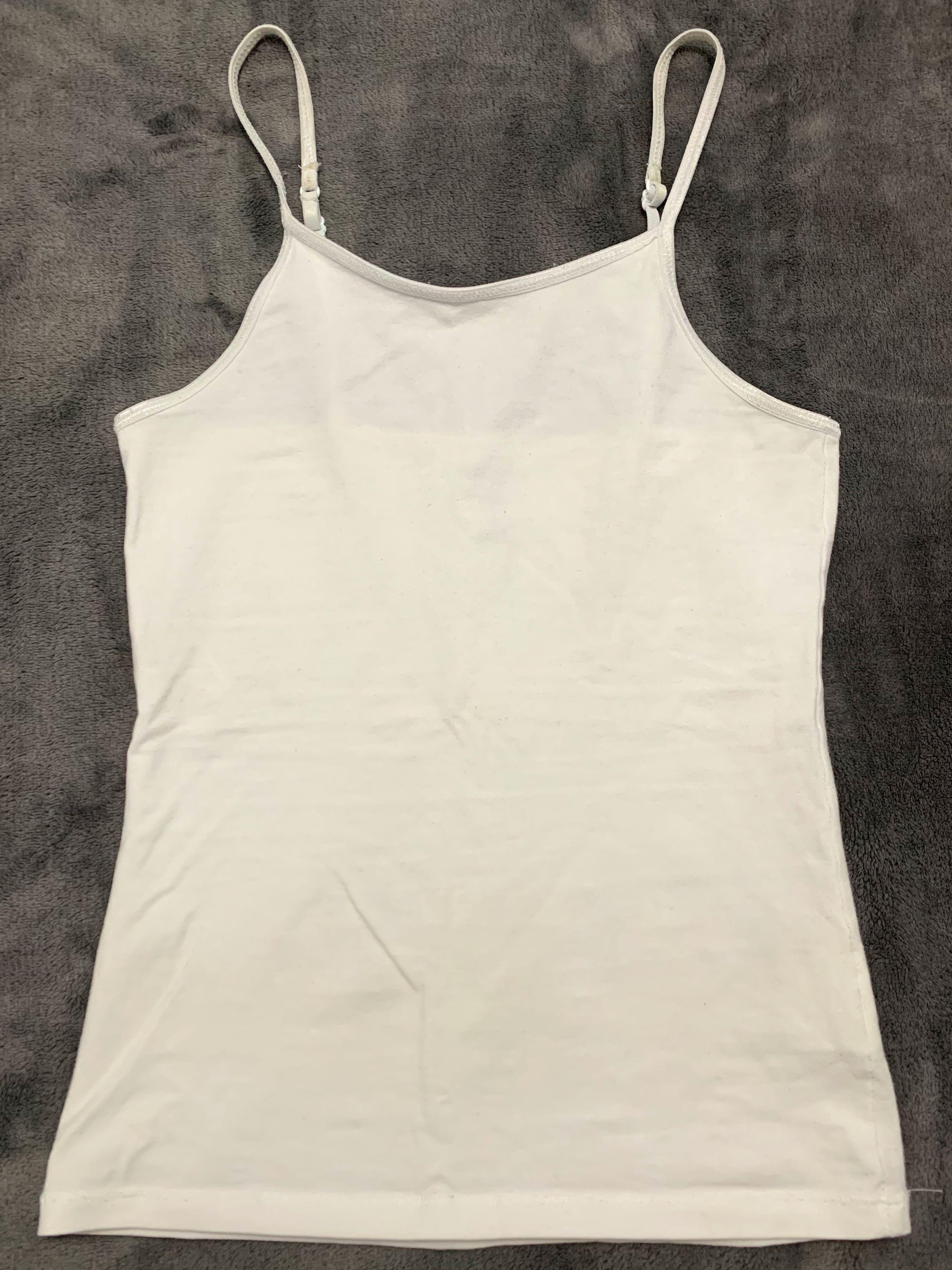Girl's Solid White Stretch Cami