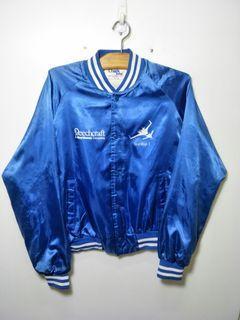 美製 藍色 亮面 飛行外套