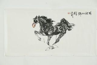 前程似錦 Mao Zifei Original Chinese Horse Ink Painting
