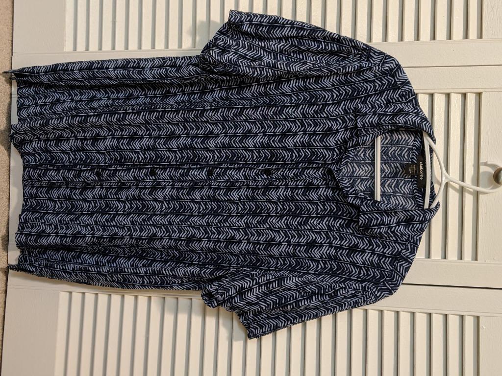 Claiborne Short-Sleeve Collared Shirt