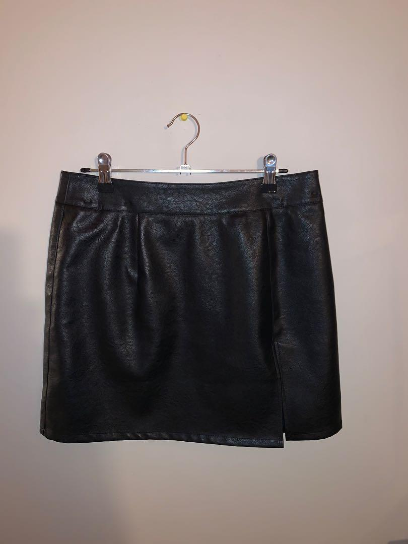 Princess Polly leather skirt