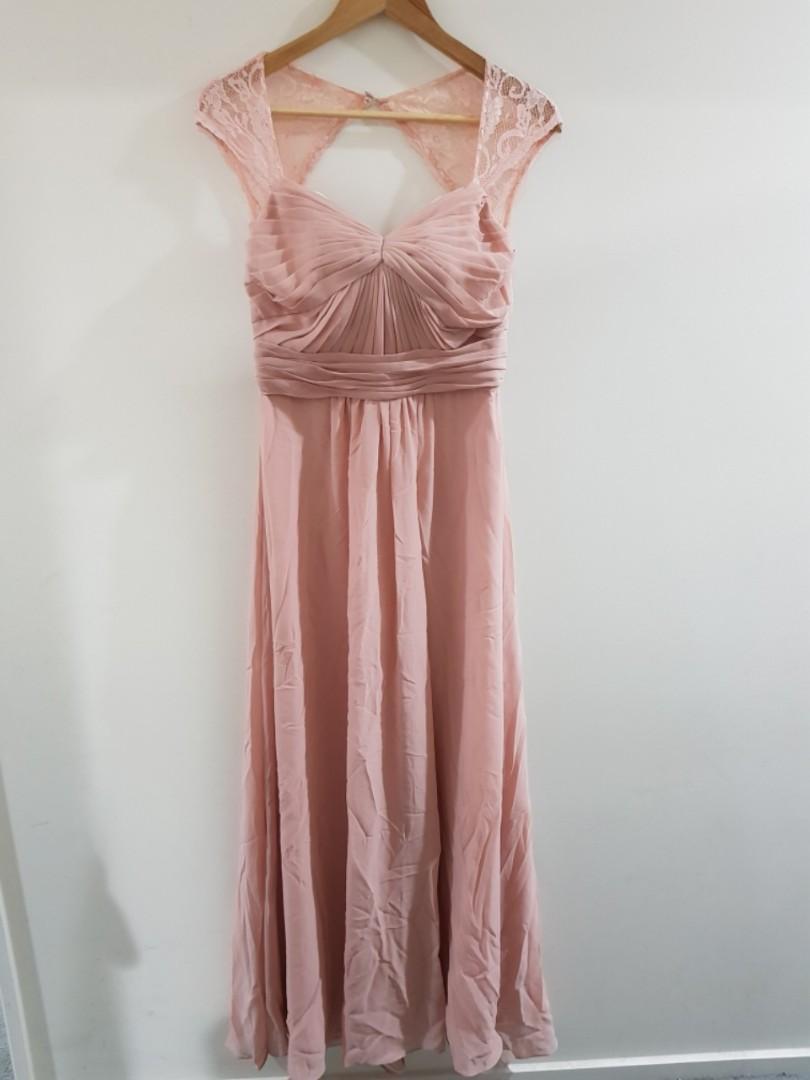 4 x Bridesmaid blush pink dresses