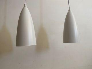 網美鐵白烤漆燈 2個 白燈