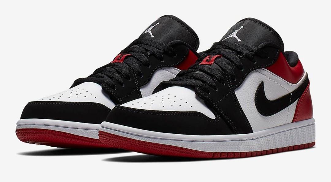 Air Jordan 1 Low Black Toes, Men's
