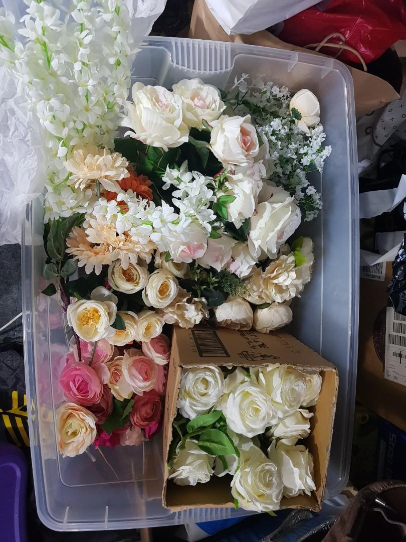 assorted fake flowers