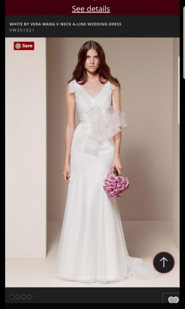 Authentic Vera Wang A line wedding gown