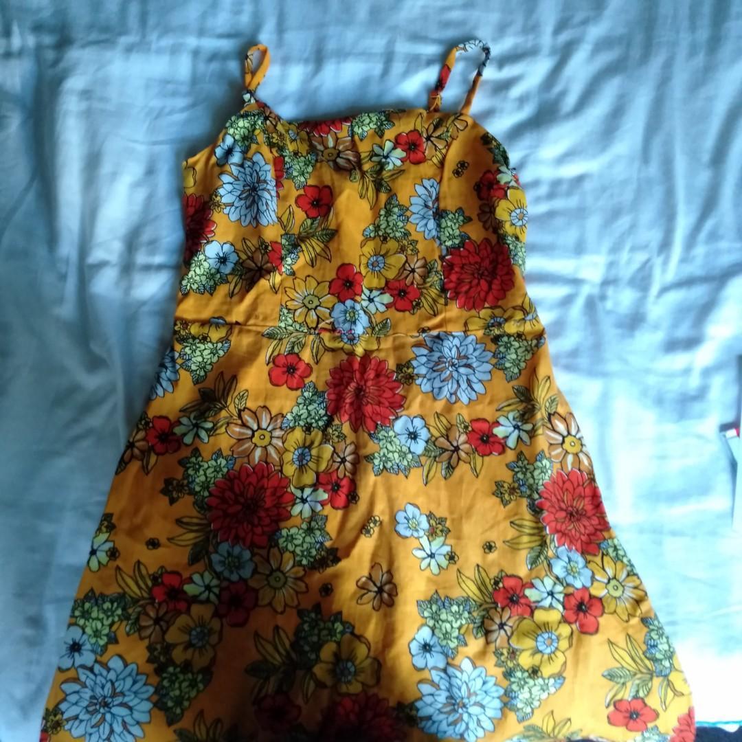 Cotton on floral mini dress