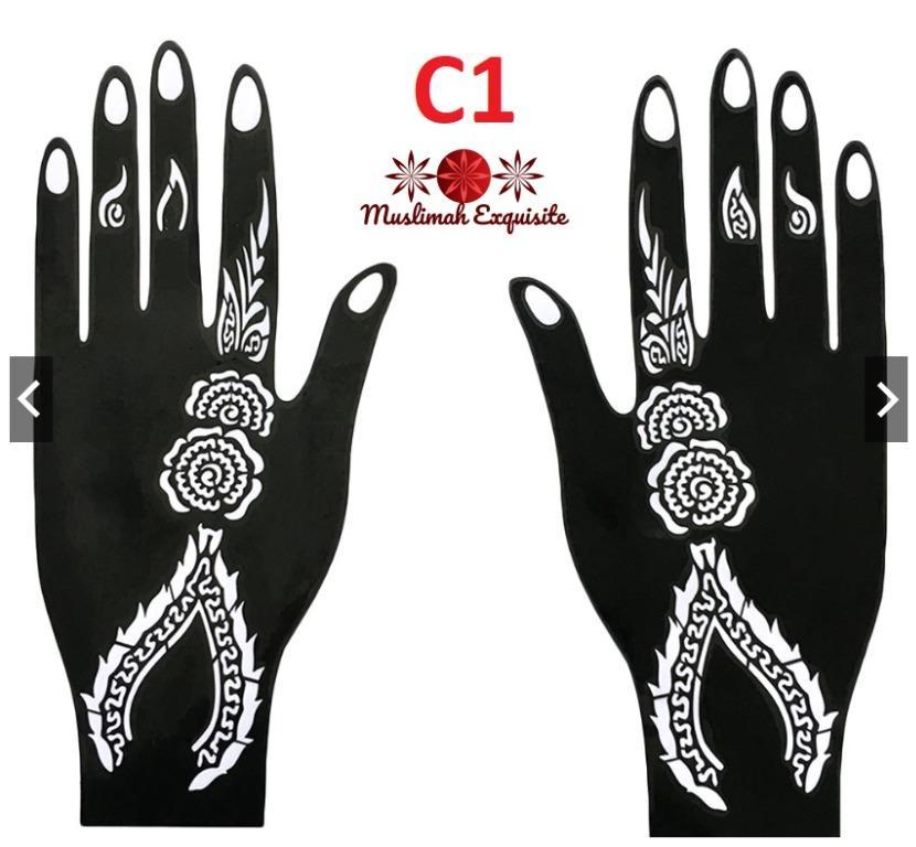 Fc Series Reusable Chic Hand Stencil Template Henna Temporary Tattoo Sticker Body Arts Design Craft Art Prints On Carousell