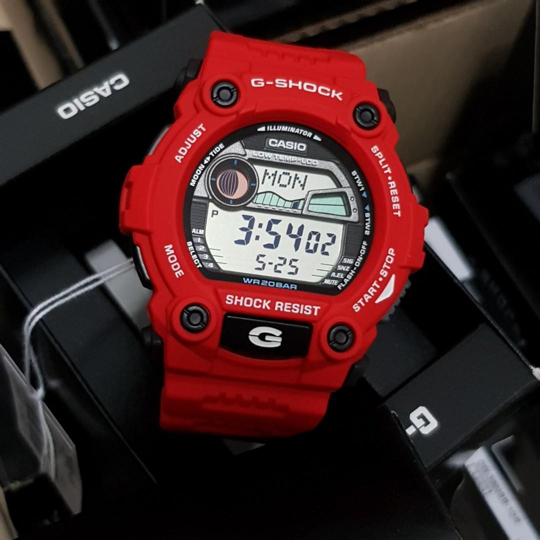 G7900a-4 red Casio men's g shock, Men's Fashion, Watches on Carousell
