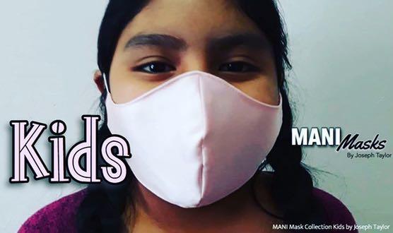 MANI Kid Masks Collection . Pack 6- No Sew Masks.