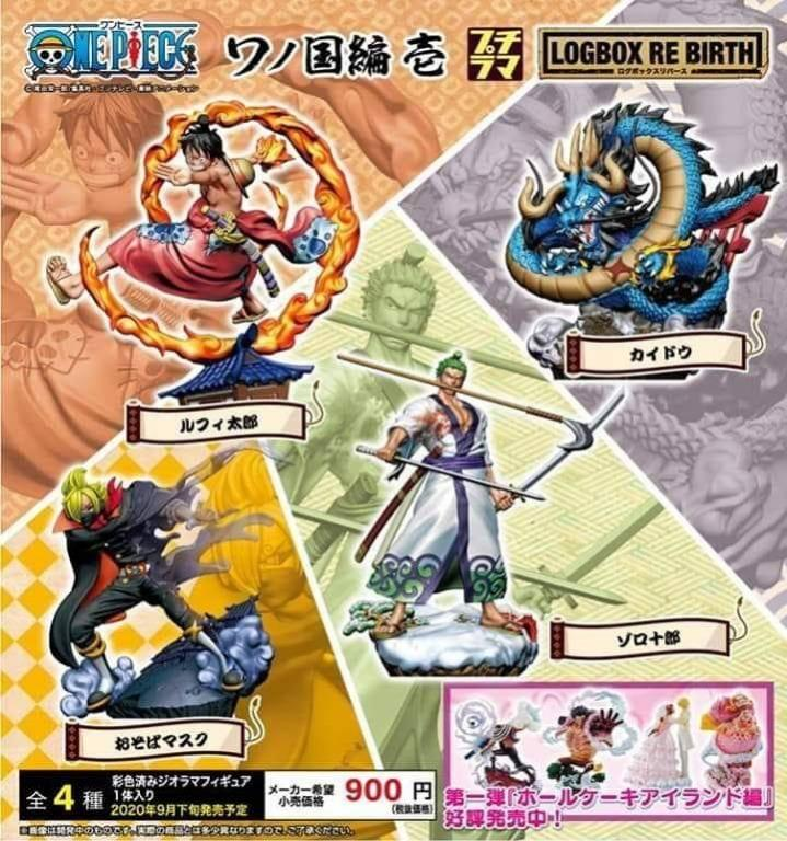 One Piece Logbox Rebirth Wano Arc Megahouse Luffy Sanji Zoro Kaido Set Of 4 Toys Games Action Figures Collectibles On Carousell
