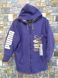 PUMA HOODIE SPORTWEAR JACKET WITH BIG LOGO SPELL OUT