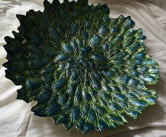 UNIQUE 3D TEXTURED SERVING PLATTER / DECOR BOWL - BRAND NEW