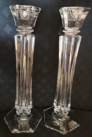 UNUSUAL 'TWISTED' CRYSTAL CANDLE STICKS - BRAND NEW