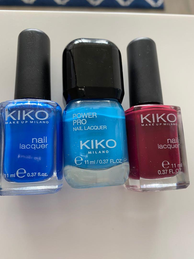 3 Kiko nail polish 2$