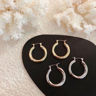 ✨全新✨經典圓形設計款耳環金色歐美韓國