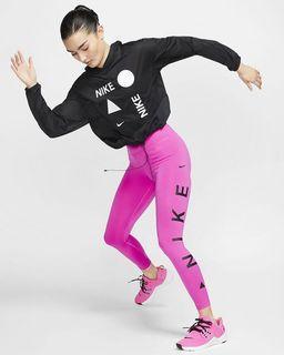 超新款 NIKE 桃紅色運動高腰緊身褲