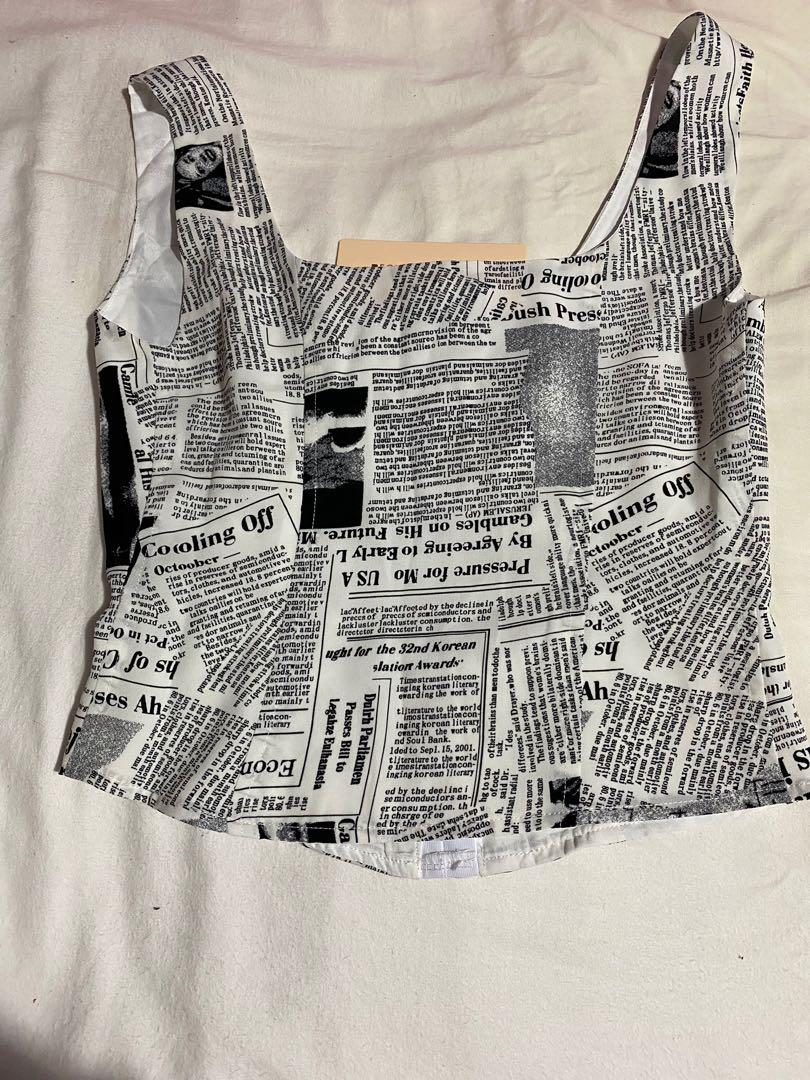 Beginning boutique newspaper top